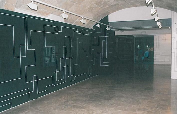 Pintura / pared. Medidas variables. Casal Solleric Palma de Mallorca 2001.