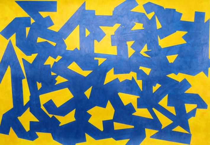 color kubikoide, 70 x 100 cm. acrilic on paper.Barcelona 2010