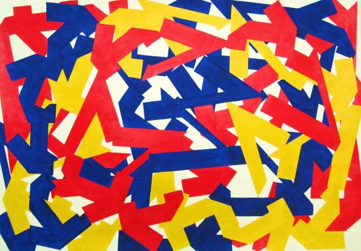 color kubikoide, 70 x 100 cm. Barcelona 2010