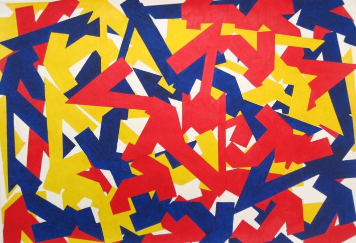 color kubikoide,70 x 100 cm. acrilic on paper,Barcelona 2010