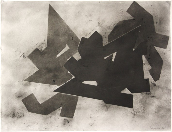 geometric space, 70 x 100 cm. charcoal on paper (2)