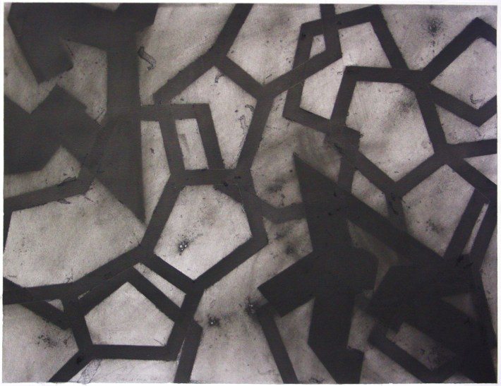 geometric space, 70 x 100 cm. charcoal on paper (3)