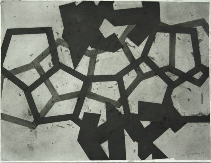 geometric space, 70 x 100 cm. charcoal on paper (4)