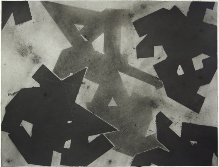 geometric space, 70 x 100 cm. charcoal on paper (5)