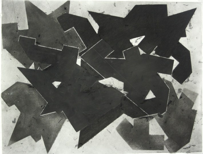 geometric space, 70 x 100 cm. charcoal on paper (6)