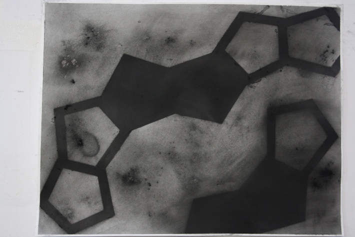 geometric space, 70 x 100 cm. charcoal on paper (8)