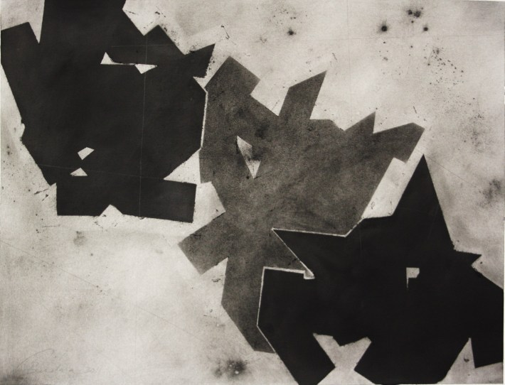 geometric space, 70 x 100 cm.charcoal on paper