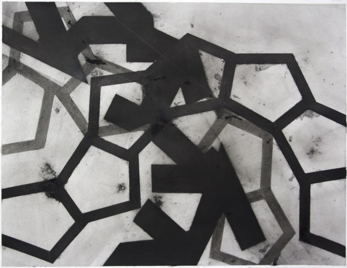 geometric space,70 x 100 cm.charcoal on papel (2)