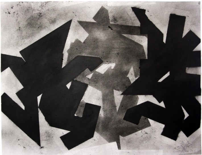 geometric space,70 x 100 cm. charcoal on paper (2)