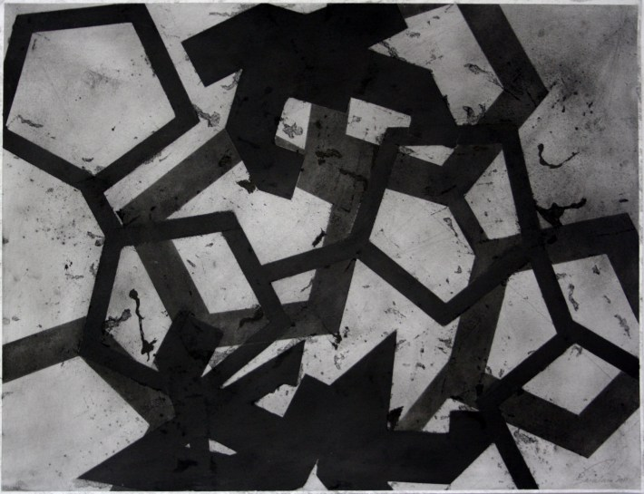 geometric space,70 x 100 cm.charcoal on paper (3)
