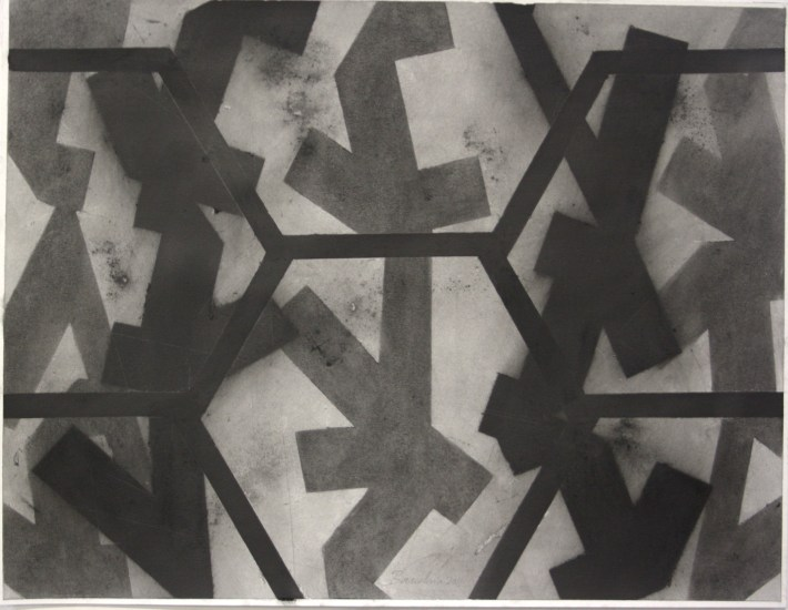 geometric space,70 x 100 cm. charcoal on paper (4)