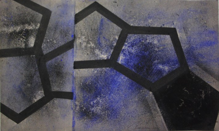geometric space,70 x 100 cm.charcoal on paper (5)