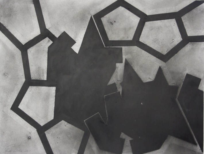 geometric space,70 x 100 cm. charcoal on paper (6)