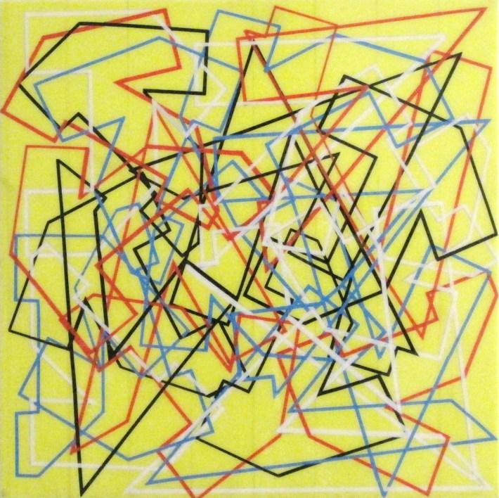 reticulares amarillo,40 x 40 cm.bcn 2011