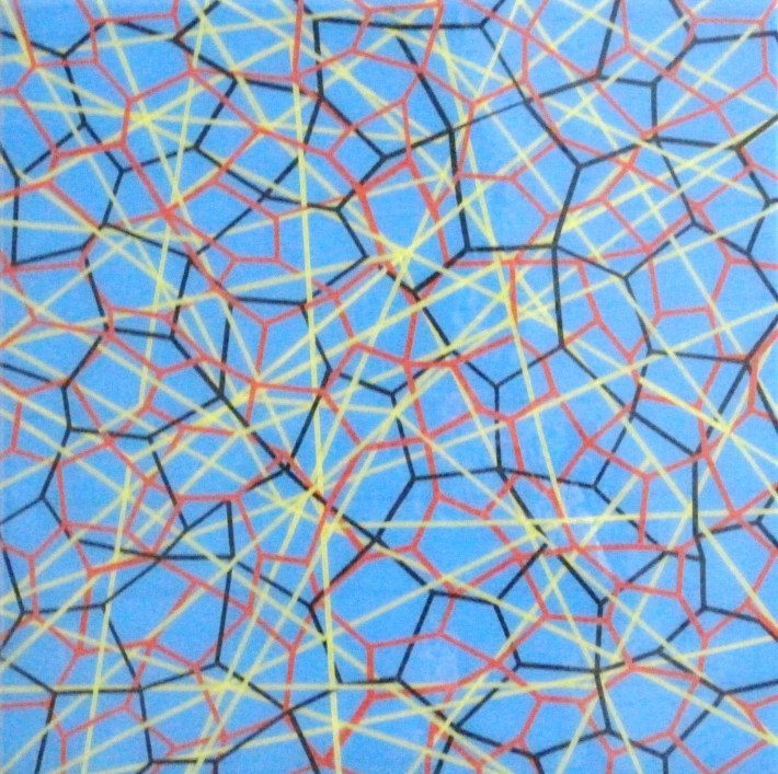 reticulares azul,40 40 cm. bcn 2011