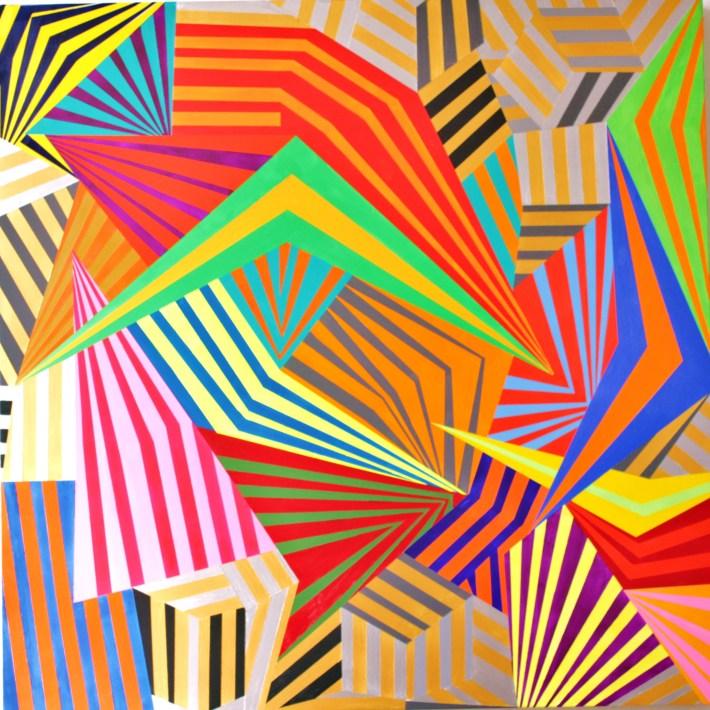 alba et rubea,100 x 100 cm. acrílico sobre tela , barcelona 2015
